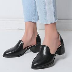 Vrouwen PU Chunky Heel Sandalen Ronde neus met Effen kleur schoenen