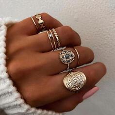 Uniek Prachtige Stijlvol Legering Sieraden Sets Ringen (Set van 6 paar)