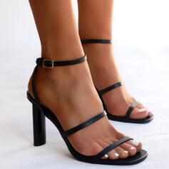 Vrouwen PU Stiletto Heel Pumps Peep Toe Hakken met Gesp Hol-out schoenen