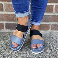 Vrouwen PU Wedge Heel Sandalen Wedges Peep Toe met Hol-out Las kleur schoenen