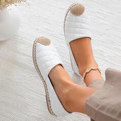 Vrouwen PU Flat Heel Flats Espadrille Aantrekken met Kriskras schoenen