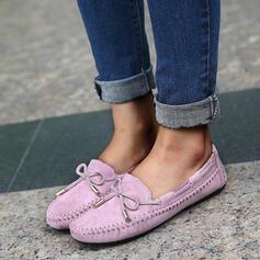 Vrouwen Suede Flat Heel Flats met strik Verband schoenen