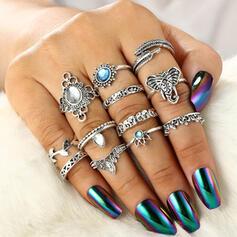 Boho Mooi Legering met Strass Vrouwen Dames Ringen (Set van 12)