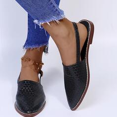 Vrouwen PU Flat Heel Flats met Gesp schoenen
