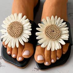 Vrouwen PU Flat Heel Sandalen Flats Peep Toe Slippers met Van Toepassing Hol-out schoenen