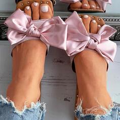 Vrouwen PU Flat Heel Sandalen Flats Peep Toe Slippers met strik Hol-out schoenen