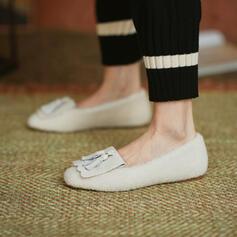 Vrouwen Fluwelen Flat Heel Flats met Tassel Effen kleur schoenen