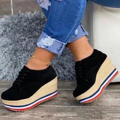 Vrouwen Suede Anderen Flats Ronde neus met Vastrijgen Effen kleur schoenen
