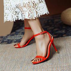 Vrouwen PU Stiletto Heel Sandalen Pumps Peep Toe met Hol-out Effen kleur schoenen