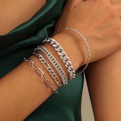 met Vergulde Vrouwen Dames Armbanden 5 STUKS