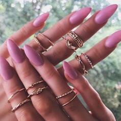 Klassiek Eenvoudig Legering Vrouwen Dames Ringen (Set van 12)
