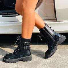 Vrouwen Kunstleer Low Heel Ronde neus met Vastrijgen schoenen