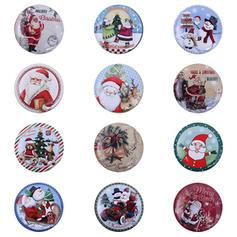Kerstmis vrolijk kerstfeest Sneeuwman Rendier de kerstman Metaal Candy Jars