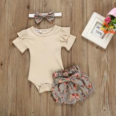 3 stuks babymeisje strik Bloemen Katoen Setformaat