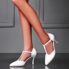 Vrouwen PU Stiletto Heel Pumps Puntige teen met Hol-out schoenen