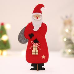 Kerstmis vrolijk kerstfeest de kerstman Tafelblad Houten Wol Kerst Ornements