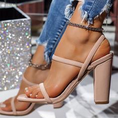 Vrouwen Nylon Chunky Heel Sandalen Hakken met Elastiek schoenen