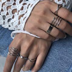Klassiek Eenvoudig Legering Ringen 6 STUKS