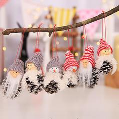 Kerstmis Tafel Gnoom vrolijk kerstfeest Sneeuwman opknoping Doek Boom hangende ornamenten Kerst Ornements (Set van 3)