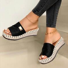 Vrouwen Suede Wedge Heel Sandalen Wedges Peep Toe Slippers Hakken met Anderen schoenen