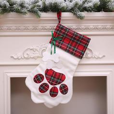 Kerstmis vrolijk kerstfeest opknoping Cadeau tas Doek Kerstsok Snoepzakken