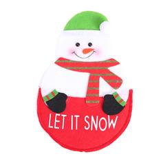Kerstmis vrolijk kerstfeest Sneeuwman Rendier de kerstman Doek Servies Cover