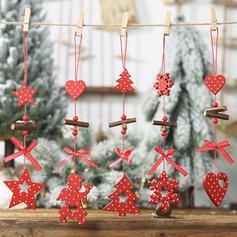 Kerstmis vrolijk kerstfeest Houten Kerst hanger Kerst Ornements