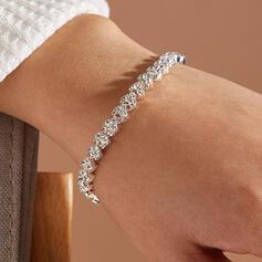 Schijnt Legering Steentjes met Steentjes Vrouwen Dames Armbanden