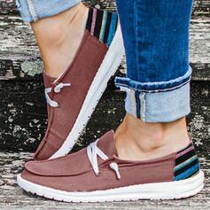 Vrouwen Zeildoek Flat Heel Flats met Las kleur Verband schoenen