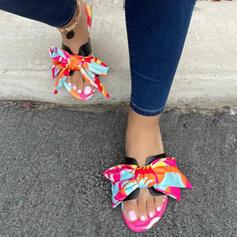 Vrouwen EVA Flat Heel Sandalen Flats Peep Toe Slippers met strik schoenen