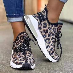 Vrouwen Suede Flat Heel Dans Sneakers met Vastrijgen schoenen