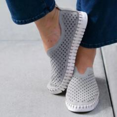 Vrouwen Suede Flat Heel Flats Lage top Ronde neus met Hol-out schoenen