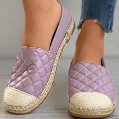 Vrouwen PU Flat Heel Flats met Effen kleur schoenen