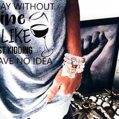 Uniek Legering Verzilverd Acryl Houten Kralen Dames Fashion Armbanden