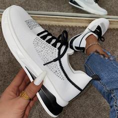 Vrouwen Mesh Flat Heel Flats Dans Sneakers met Strass Vastrijgen schoenen