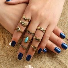 Wijnoogst Elegant Legering Vrouwen Dames Ringen 9 STUKS