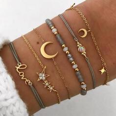 In de mode Koel Legering Armbanden (Set van 6 paar)