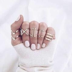 In de mode Eenvoudig Legering Vrouwen Dames Ringen 5 STUKS