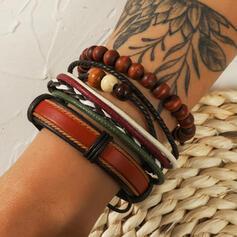 Exotisch Boho Gelaagd Kralen PU Uniseks Armbanden 3 STUKS