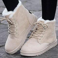 Vrouwen Suede Flat Heel Enkel Laarzen Snowboots Ronde neus met Gesp Vastrijgen schoenen