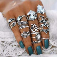 Aantrekkelijk Barok Stijl Legering Vrouwen Ringen (Set van 16)