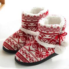 Vrouwen Doek Flat Heel Snowboots Ronde neus Winterlaarzen met Las kleur schoenen