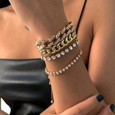 Sexy Charme Artistieke met Strass Vergulde Vrouwen Dames Armbanden 4 STUKS