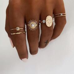Uniek Prachtige Stijlvol Legering Sieraden Sets Ringen (Set van 5 paren)