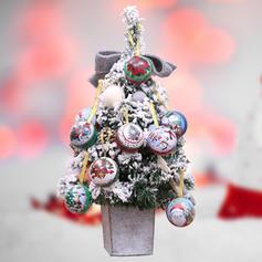 Kerstmis vrolijk kerstfeest Sneeuwman Rendier de kerstman opknoping Metaal Boom hangende ornamenten Kerst Ornements
