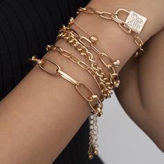 In de mode Sexy Wijnoogst Klassiek Legering met Vergulde Butterfly Vrouwen Dames Armbanden 6 STUKS