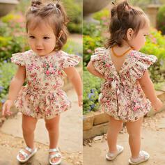 babymeisje Bloemen Print Badpakken