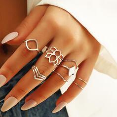 In de mode Gelaagd Legering Ringen 8 STUKS