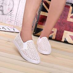 Vrouwen Doek Flat Heel Flats Ronde neus met Hol-out schoenen