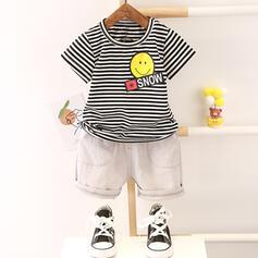 2 stuks babyjongen Spotprent Streep Katoen Setformaat